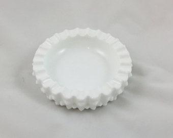 Fenton Milk Glass Ashtray/Dish, 1960s Vintage