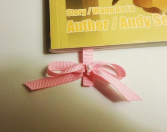 Ribbon Bookmark with Pearl