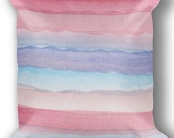 Unicorn Pillow with Insert, Pastel Unicorn Bedding for Girls, Unicorn Cushion, Unicorn Bedroom Decor, Pastel Pink & Purple, Fairy Pillow