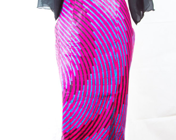 Long dress, women's dress, African fashion, African fabric, dress with long slit, dress with low back, evening dress, maxi dress