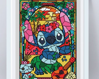 Disney cross stitch pattern modern cross stitch pdf cross stitch kids cross stitch disney lilo and stitch BUY 2 GET 1 FREE cross stitch
