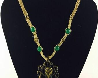 Octopus hemp necklace