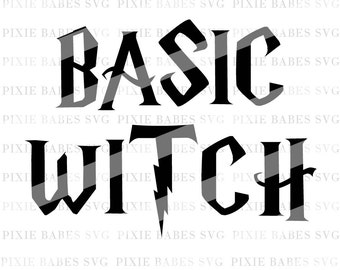 Basic Witch SVG, Witch svg, Holiday SVG, Halloween svg, Winter svg, Clip art, cuttables, Ghost svg, svg, Cricut, Silhouette, Cutting Files