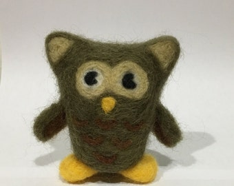 Needle felted wool owl