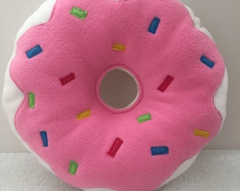 Handcrafted Donut Pillow-12""