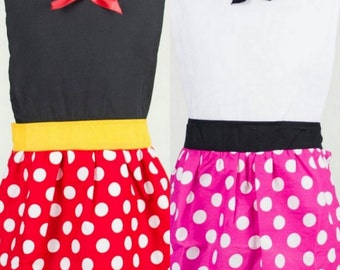 Mommy and me Minnie Mouse cooking apron pre order