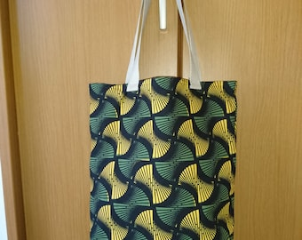 Japanese Soft Tall Tote Bag - Abstract Print (Type B)