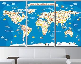 nursery world map nursery map map for kids world map for kids kids wall art kids world map kids map map canvas world map wall art