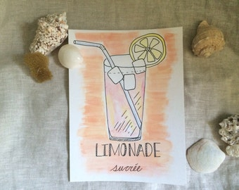 "Illustration ""Sweet lemonade"""