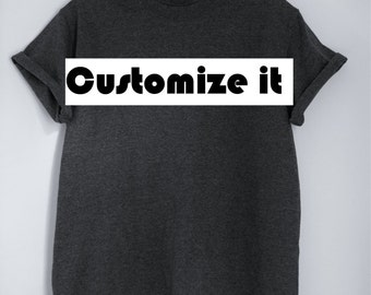 Customizable embroidered T-shirt