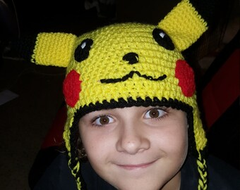 Pikachu hat with ears