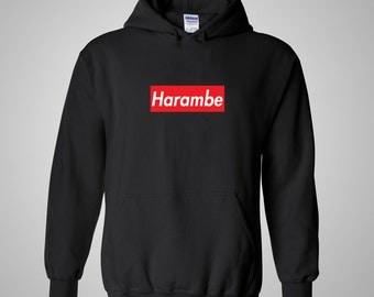 Harambe Supreme Box Logo Hoodie - Red Box Logo Hoodie / Supreme Shirt