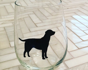 Labrador Wine Glass - Custom Dog Wine Glass - Black Lab Gift - Dog Gift - Personalized Dog Gift - Gift for Dog Lover - Stocking Stuffer