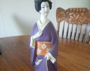 House of Koshu Porcelain Geisha Sake Decanter 60s Era
