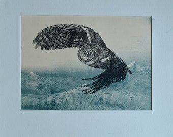 L'oiseau de nuit, lithograph