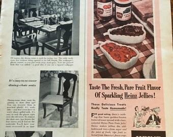 Heinz Jellies Ad from 1952 Better Homes & Gardens magazine