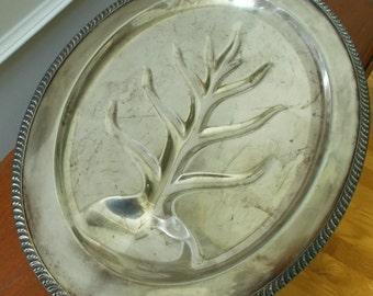 Silver Plate Turkey Platter
