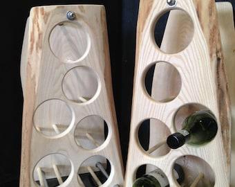 Hand Crafted English Ash Wine Rack