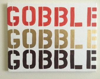 Gobble Gobble Canvas