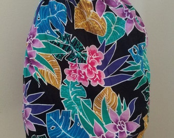 Awesomely 80's New Wave Retro Resort Wrap Skirt - So cute and colorful! Pink, Purple, Green, Yellow, Black, & Pink - Size S/M/L