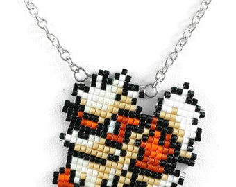 Arcanine Necklace - Pokemon Necklace Pokemon Jewelry Pixel Necklace Video Game Necklace 8bit Jewelry Geeky Gifts Anime Necklace Dog Necklace