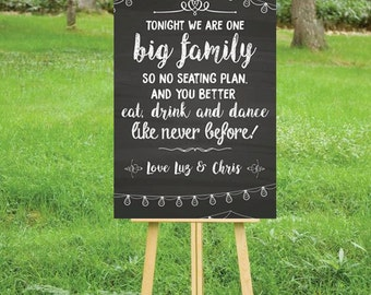 "Wedding sitting poster for your big day- Digital 24x36"" or 12x18"""