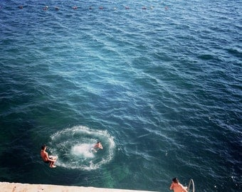 Bulls Eye having Fun Swimming: Fine Art Photography, Wall Art, Home Decor, Wall Art, Print, Summer, beach Photo, Art Print, Paris Spellson