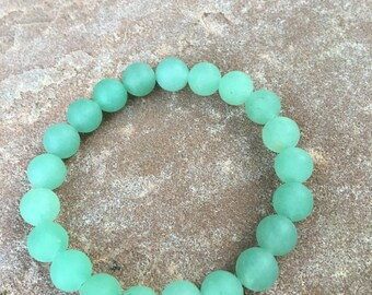 Natural Gemstone Bracelet 8mm Green Aventurine