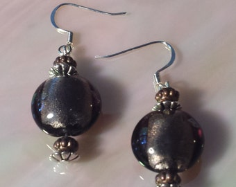 Bronze Brown Dangle Earring
