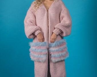 Cardigan Coat Sweet Baby Handmade knitted wool  Knit cardigan Fashion coat