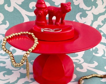 Quirky Red Dog Jewerly Stand - Jewelry Holder - Jewelry Display