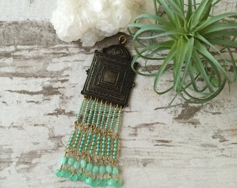 Mint Green Golden Pendant