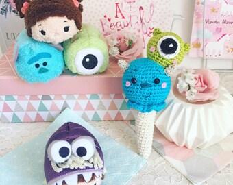 Glace crème Monsters inc Sully et bob disney crochet amigurumi