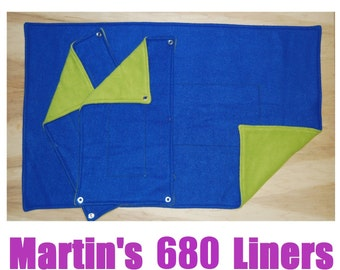 Martin's 680 Fleece Cage Liners (Blue & Green - Ready to Ship)