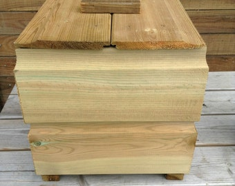 Ruby Wooden Shiplap Log Crates with Lid - Log Firewood Holder Handmade Box