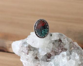 Jasper Ring // Sterling Silver // Size 6.25 // Sonora Jasper