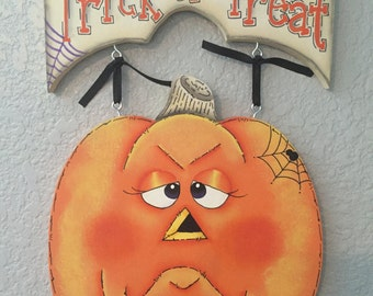 Halloween, Pumpkin, Holiday Decor, Hand Painted, Tole Painting, Decorative Painting, Home Decor