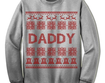 Daddy Ugly Christmas Sweatshirt. Dad To Be. New Dad. Family Christmas. Sweater. Jumper. Ugly Christmas. Christmas. Gift Idea. Father.