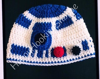 Handcrafted Crochet R2D2 Hat