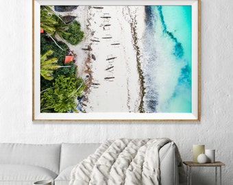 Large Art / Beach Photography / Aerial beach Photography, Beach Photography Print, Photographic Art, Beach Art Print, Wall Art, Photo Print