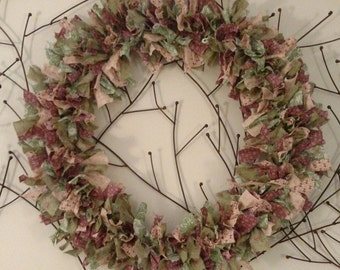 Rag Wreath (Fall Colors)
