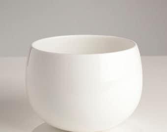 Handmade White Ceramic Hedy Bowl