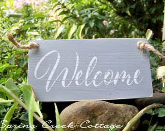 Wreath Signs, Wood Signs, Welcome, Handpainted, Nautical, Signs, Coastal Decor, Home Decor, Beach, Rustic