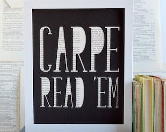 Funny Book Lover Gift Idea - Literary Artwork - Reading Gift - Library Decor - English Teacher Gift Ideas - Librarian Gift - Office Decor