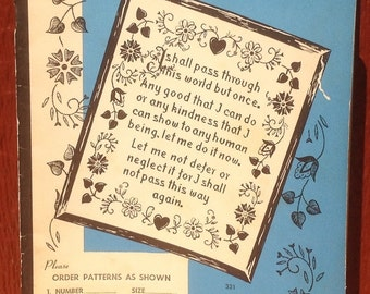 Carol Curtis Needlework Guide - 1940s - Vintage Craft Book