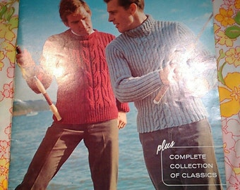 Columbia Minerva Hand Knits for Men Book 763 + Vintage Knitting Patterns
