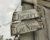 Were Engaged   Engagement Photo Props   Engagement Sign   Chair Signs   I Stole Her Heart   Wedding Signs   Save the Date   Rustic Wedding