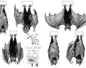 Shelf bats, cut out Halloween decorations