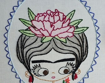 Portrait of Frida Kahlo Digital Embroidery Patterns
