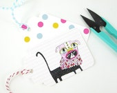 Birthday Party Download Gift Tag Cats in Masks